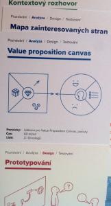 Designové metody na kartičkách KISKu